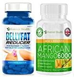 African Mango 6000 + Graisse du Ventre Réducteur * Combo Brûleur de Graisse * Pilules Amincissantes Mangue Africaine Diète Brûleur ...