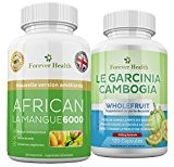 African Mango 6000 LEPTINE Brûleur de Graisse + GARCINA CAMBOGIA Wholefruit Pilule Amincissantes Mangue Africaine Diète Brûleur de Graisses Pour ...
