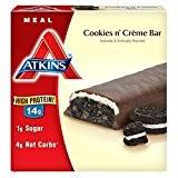 Atkins, Avantage, Barre de biscuits au creme de chocolat, 5 barres, 1,7 oz (48 g) de chaque