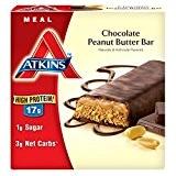 Atkins, Avantage, Barre de chocolat au beurre d'arachide, 5 barres, 2,1 oz (60 g) de chaque