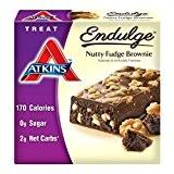 Atkins, Endulge, Noix de Brownie fondant, 5 barres, 1,4 oz (40 g) de chaque