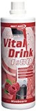 Best Body Nutrition Low Carb Vital Drink 1000ml bouteille Framboise
