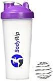 BodyRip 600ml Shaker à protéine avec Blender Mixeur Violet Violet 26cm x 9.5cm