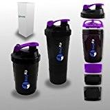 BodyRip Compartiment Protéine Shaker 500ml Violet Violet 26cm x 10cm