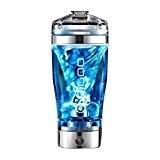 Bouteille mélangeur,Digoo 600ml Shaker protéines à vortex électrique,USB Rechargeable,Mélangeur vortex auto,Bouteille mélangeurs électriques pour les jus Cocktails café thé Shaker ...