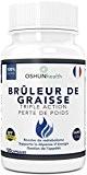 Brûleur De Graisses | Comprimés de perte de poids et d'amaigrissement de puissance maximale | Glucomannane (fibre de Konjac), L-carnitine, ...