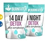 burnfatea 14Journée TEATOX complexión de la peau (non effet laxatif, la peau saine Clara, thé de la perte de poids, ...
