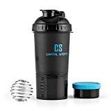 Capital Sports Shakester - Shaker spécial de 600ml pour boissons protéinées sans BPA - spécial prise de masse musculaire ou ...