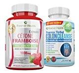CETONE FRAMBOISE Raspberry Ketone + Herbal COLON CLEANSE Pour PERTE DE POIDS RAPIDE ! TRES FORTE Pure 1000mg Pilule De ...