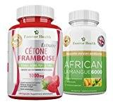 CETONE FRAMBOISES Raspberry Ketone + AFRICAN MANGO 6000 LEPTINE Brûleur de Graisse Pour Perdre du Poids RAPIDEMENT ! Super Fort ...