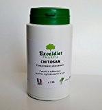 Chitosan - Brûleur et Capteur de Graisses 120 gélules à la Chlorophylle - Mincir avec Exceldiet Pharma