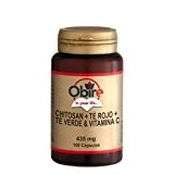 Chitosan + Thé Rouge + Thé vert + vitamine C, 435 mg - 100 Gélules - Aide minceur