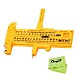 CkeyiN® Coupe cercle réglable , Diamètre de coupe de 1 cm-30cm pour papiers cloth, film, plastic, etc.