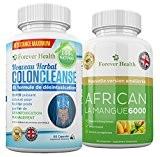 COLON CLEANSE Nettoyage Du Colon + AFRICAN MANGO Pilules Minceur FORTE Pour Une Perte de Poids RAPIDE ! Formulé Spécialement ...