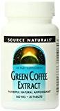 Extraits de café vert - 500 mg - 30 comprimés - anti vieill