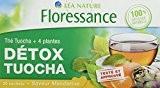 Floressance Thé Tuocha + 5 Plantes Détox/Saveur Mandarine 30 g - Lot de 3