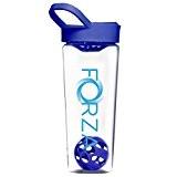 FORZA FITNESS Shaker Mixball - Avec boule de mixage pour substituts de repas, sachets hyperprotéinés - 700ml - Bleu