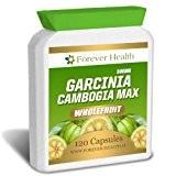Garcinia Cambogia MAX * PURE WHOLEFRUIT * Perdez Jusqu'à 7.5 Kilos en 12 Semaines ! 120 Comprimé - Brûleur De ...