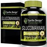 Glucomannane 500mg - Pure Fibre de Racine de Konjac - 90 Capsules (2 mois d'approvisionnement) de Earths Design