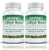 Green Coffee Bean Platinum (2 bouteilles) Grain de Café Vert Platine - 100% extrait de grain de café vert de ...