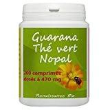 Guarana Thé Vert Nopal - 470 mg - 200 Comprimés