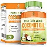 Huile de Coco - Capsules d'Huile de Coco 1000mg - Vierge et Pure avec Acides Gras MCT Naturels - Pour ...
