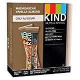 KIND Nuts & Spices Barre de céréales salée et sucrée Nut & Spice - Chocolat noir, vanille de Madagascar et ...