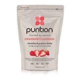 Milk-shake protéiné et diététique à la fraise (500 g) idéal pour la perte de poids et la récupération après l'effort ...