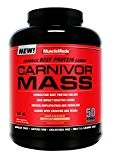 MuscleMedsm, Carnivor Mass Anabolic Beef Protein Gainer, 6 Pounds by MuscleMeds