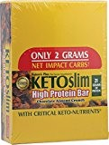 Natures Plus Keto Slim High Protein Bar 60gm with 21gm of protein (12 Bars)