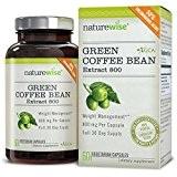 NatureWise Extrait de café vert 800 Bruleur de graisse avec GCA, 1600 mg par portion quotidienne, la plus haute quantité ...