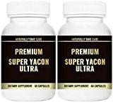 Premium Super Yacon Ultra Capsules - Tous les suppléments prébiotiques naturels puissants favorisent la désintoxication et le nettoyage, la perte ...