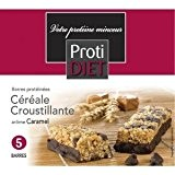 Protidiet - Protidiet Barres Proteinees Cereales Croustillante - Arome : Caramel - Contenance : 5 Barres