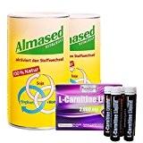 SanaExpert Double Pack brûleur de graisse 2x Almased, substitut de repas en poudre + SanaExpert L-Carnitine