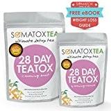 SOMATOX 28 JOURS TEATOX Thé ultime pour la Détox ★ Thé pour la perte de poids • Thé pour régime ...