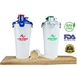 Sport Force # 1Double d'hydratation boissons Shaker bouteille 30ML