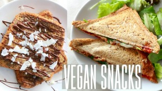 "VEGAN SNACKS | Pain perdu & Sandwich ""mozza"""