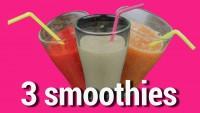 3 smoothies coupe faim et naturels